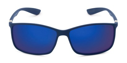 Front of Aruba #8570 in Blue Frame with Blue Mirrored Lenses