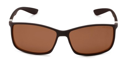 Front of Aruba #8570 in Brown Frame with Amber Lenses