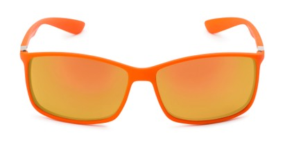Front of Aruba #8570 in Orange Frame with Yellow Mirrored Lenses
