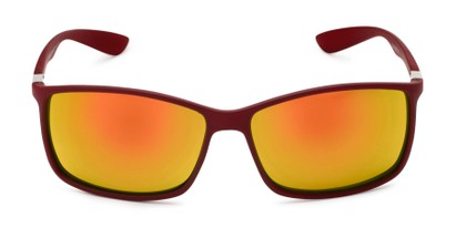 Front of Aruba #8570 in Red Frame with Yellow Mirrored Lenses
