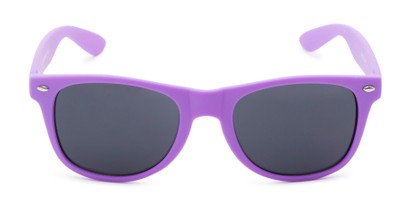 Front of Atlas #8865 in Purple Frame with Smoke Lenses