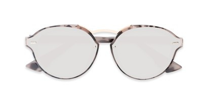 Folded of Augusta #5155 in Grey Tortoise Frame with Silver Mirrored Lenses