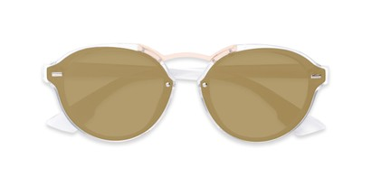 Folded of Augusta #5155 in Clear Frame with Gold Mirrored Lenses