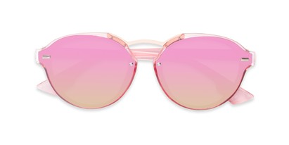 Folded of Augusta #5155 in Pink Frame with Pink/Green Mirrored Lenses