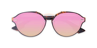 Folded of Augusta #5155 in Tortoise Frame with Pink/Green Mirrored Lenses
