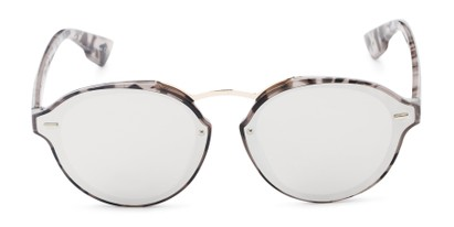 Front of Augusta #5155 in Grey Tortoise Frame with Silver Mirrored Lenses