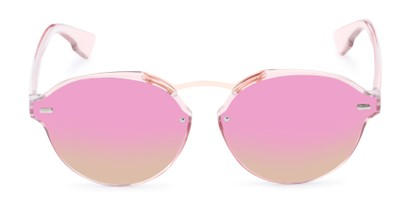 Front of Augusta #5155 in Pink Frame with Pink/Green Mirrored Lenses