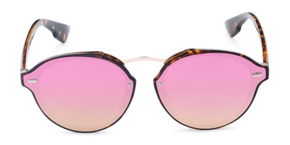 Front of Augusta #5155 in Tortoise Frame with Pink/Green Mirrored Lenses