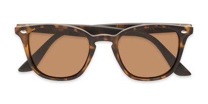 Folded of Backpacker #16391 in Brown Tortoise Frame with Amber Lenses