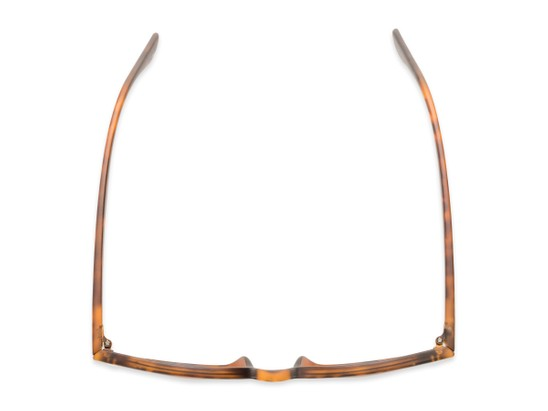 Overhead of Backpacker #16391 in Brown Tortoise Frame with Amber Lenses