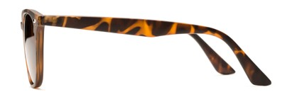 Side of Backpacker #16391 in Brown Tortoise Frame with Amber Lenses