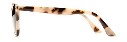 Side of Backpacker #16391 in Tan Tortoise Frame with Smoke Lenses