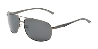 Angle of Baltic #8503 in Grey Frame with Grey Lenses, Men's Aviator Sunglasses