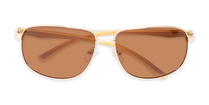 Folded of Baltic #8503 in Gold/Rose Gold Frame with Amber Lenses