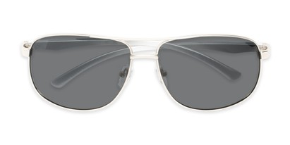 Folded of Baltic #8503 in Silver Frame with Grey Lenses