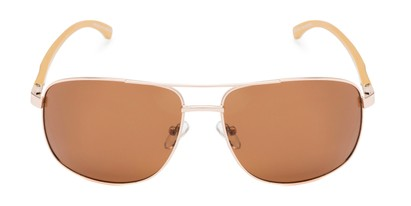 Front of Baltic #8503 in Gold/Rose Gold Frame with Amber Lenses