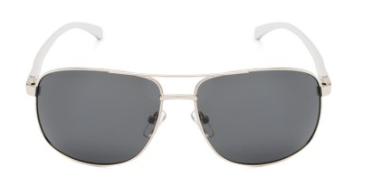 Front of Baltic #8503 in Silver Frame with Grey Lenses