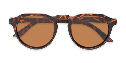 Folded of Banff #5274 in Matte Tortoise Frame with Amber Lenses