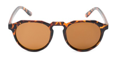 Front of Banff #5274 in Matte Tortoise Frame with Amber Lenses