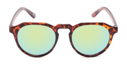 Front of Banff #5274 in Matte Tortoise Frame with Yellow Mirrored Lenses
