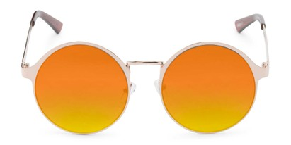 Front of Banks #9157 in Gold Frame with Orange Mirrored Lenses