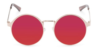 Front of Banks #9157 in Gold Frame with Dark Pink Mirrored Lenses