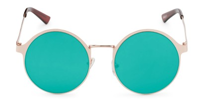 Front of Banks #9157 in Gold Frame with Dark Teal Mirrored Lenses