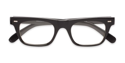 Folded of Baritone #3489 in Black Frame with Clear Lenses