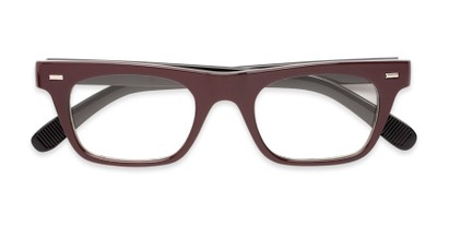 Folded of Baritone #3489 in Brown Frame with Clear Lenses