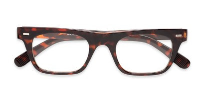 Folded of Baritone #3489 in Brown Tortoise Frame with Clear Lenses