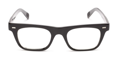 Front of Baritone #3489 in Black Frame with Clear Lenses