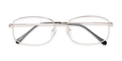 Folded of Barnes #8301 in Silver Frame with Silver Mirrored Lenses