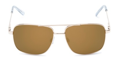 Front of Barnes #8301 in Gold Frame with Gold Mirrored Lenses