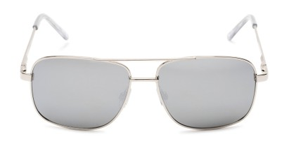 Front of Barnes #8301 in Silver Frame with Silver Mirrored Lenses