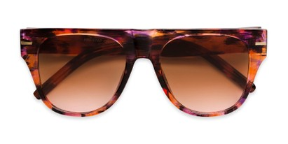Folded of Bayswater #9097 in Pink/Orange Frame with Amber Gradient Lenses