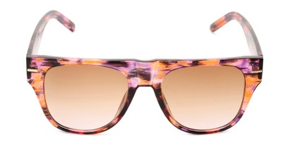 Front of Bayswater #9097 in Pink/Orange Frame with Amber Gradient Lenses