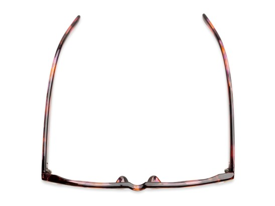 Overhead of Bayswater #9097 in Pink/Orange Frame with Amber Gradient Lenses