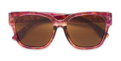 Folded of Beatrice in Pink Tortoise Frame with Amber Lenses