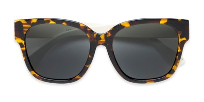 Folded of Beatrice in Tortoise Frame with Smoke Lenses