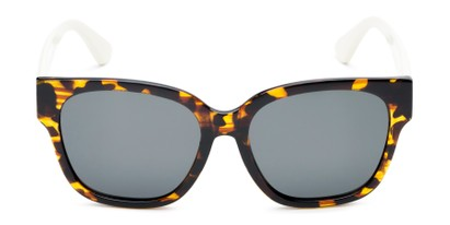 Front of Beatrice in Tortoise Frame with Smoke Lenses