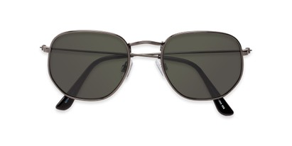 Folded of Beau #27140 in Grey Frame with Green Lenses