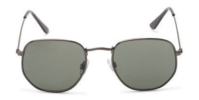Front of Beau #27140 in Grey Frame with Green Lenses