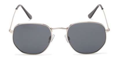 Front of Beau #27140 in Silver Frame with Grey Lenses