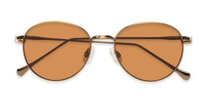 Folded of Bedford #30202 in Copper/Gold Frame with Amber Lenses