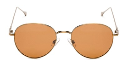 Front of Bedford #30202 in Copper/Gold Frame with Amber Lenses