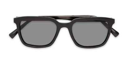Folded of Bellamy #2885 in Matte Black /Grey Frame with Smoke Lenses