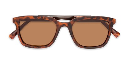 Folded of Bellamy #2885 in Matte Tortoise/Grey Frame with Brown Lenses