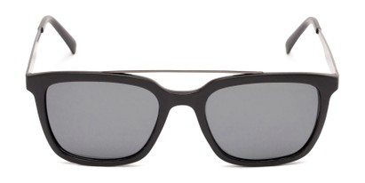Front of Bellamy #2885 in Matte Black /Grey Frame with Smoke Lenses