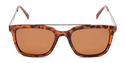 Front of Bellamy #2885 in Matte Tortoise/Grey Frame with Brown Lenses