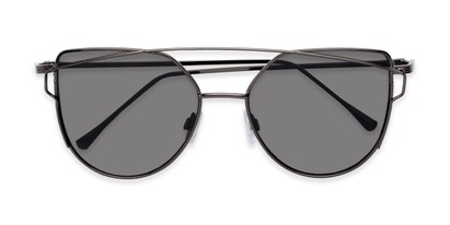Folded of Bellina #2193 in Grey Frame with Grey Lenses